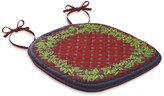 Provence Quilted Chair Pads, Set of 4, Red