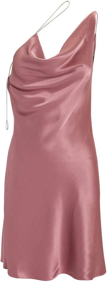 Cushnie Embellished Strap Mini Dress