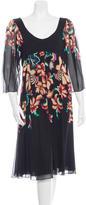 Temperley London Silk Floral Print Dress