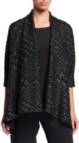 Caroline Rose Check Me Out Knit Side Fall Cardigan