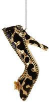 Lord & Taylor Leopard Print Heel Ornament