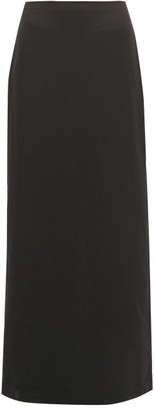 The Row Hena Twill Maxi Skirt - Womens - Dark Green
