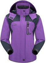 Diamond Candy Sportswear Women's Hooded Softshell Raincoat Waterproof Jacket 5 L