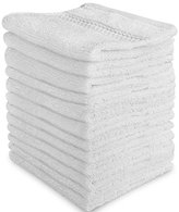 Ringspun Luxury Cotton Washcloths (12-Pack, White, 12x12 Inches) - Easy Care, Fingertip Towels, Facial Towelettes, Cotton Hand Towels - by Utopia Towels