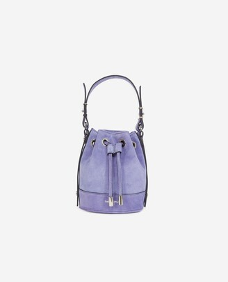 The Kooples Nano Tina bag in lilac suede