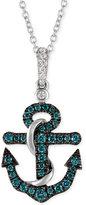 LeVian Le Vian Exotics® Diamond Anchor Pendant Necklace (1/4 ct. t.w.) in 14k White Gold