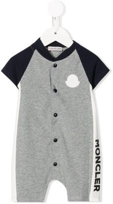 Moncler Enfant Raglan-Sleeved Button-Through Babygrow