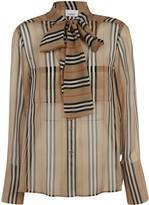 Burberry Striped Print Blouse