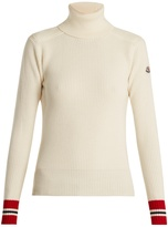 Moncler Contrast-cuff roll-neck wool sweater