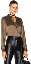 L'Agence Bianca Blouse in Brown.