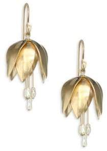 Annette Ferdinandsen 4MM Pearl& 14K Gold Crown Imperial Earrings