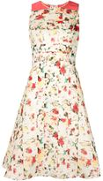 Carolina Herrera abstract print flared dress