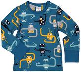 Polarn O. Pyret Baby Long Sleeve Robot T-Shirt, Blue