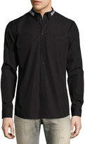 Givenchy Real Eyes Embroidered Cotton Shirt, Black
