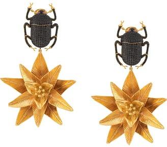 BEGÜM KHAN Pharaoh Lotus earrings