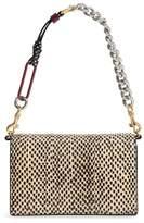 Diane von Furstenberg Mini Soiree Genuine Snakeskin Crossbody Bag