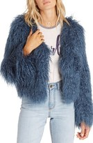 Billabong Women's Waiting For You Faux Fur Jacket