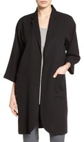 Eileen Fisher Women's Notch Collar Long Jacket