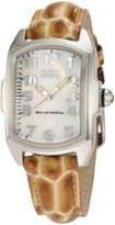 Invicta Women's 1895 Lupah White Mother-Of-Pearl Dial Brown Patent Leather With Alligator Pattern Watch