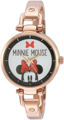 Disney Minnie Mouse Women's Rosegold Alloy Bridle Watch Rosegold Alloy Bracelet W002820