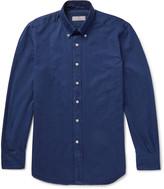 Canali Slim-Fit Button-Down Collar Cotton-Blend Twill Shirt