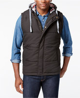 Weatherproof Vintage Men's Big and Tall Hooded Vest, Classic Fit