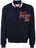 MAISON KITSUNÉ logo patch teddy jacket - men - Wool/Polyamide/Cotton/Viscose - M