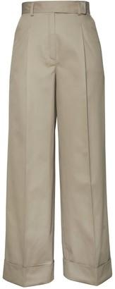 Loren Wide-Leg Trousers Sandy Beige