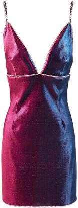 Area Crystal-embellished Degrade Iridescent Twill Mini Dress