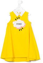 Fendi logo print dress - kids - Cotton/Spandex/Elastane - 6 yrs