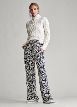 Ralph Lauren Satin Floral Pant