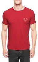 True Religion Men's Puff Logo Tee Shirt, Ruby Red, XX-Large