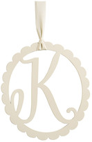 Mud Pie Scalloped Initial Wall Hanger - K