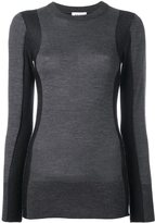 DKNY panelled jumper