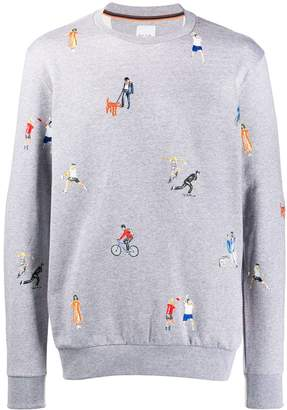 Paul Smith embroidered sweater