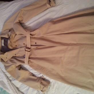 Ramosport Ecru Cotton Trench Coat for Women Vintage