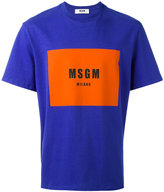 MSGM colour block logo print T-shirt - men - Cotton - M