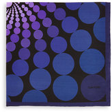 Tom Ford Floating Circle-Print Pocket Square, Purple