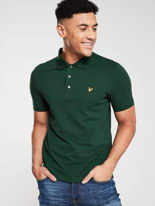 Lyle & Scott Plain Polo Shirt - Jade Green