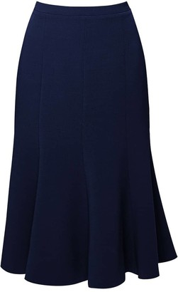 Rumour London Lucy Wool Midi Skirt In Navy
