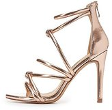 Charlotte Russe Metallic Knotted Caged Dress Sandals