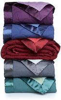 Concierge Collection Scallop Quillted Down Alternative Reversible Blanket with Satin Trim - Twin