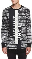 Helmut Lang Logo Graphic Oversized Sweater, Black Multi