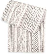 Tadpoles TadpolesTM by Sleeping Partners Cable Knit Print Microfleece Blanket