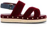 Muveil open toe criss-cross sandals - women - Rayon - 22.5