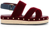Muveil open toe criss-cross sandals
