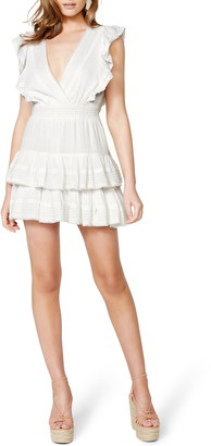 Bardot Dreamer Ruffle Tiered Minidress