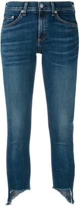 Rag & Bone asymmetric hem jeans