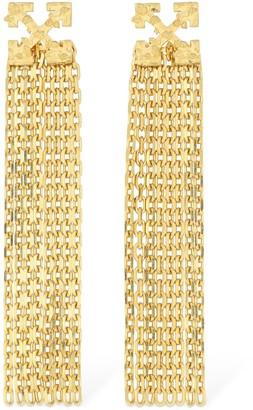 Off-White Arrow Pendant Earrings