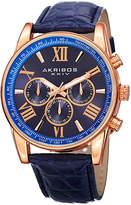 Akribos XXIV Unisex Blue Strap Watch-A-864rgbu